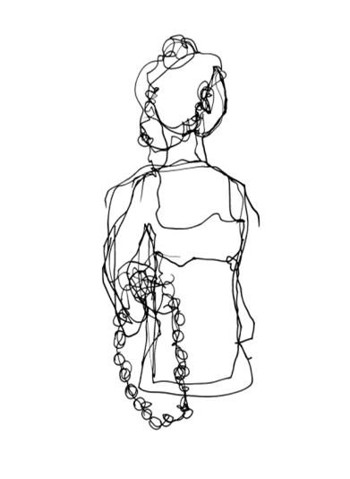 手绘时装裙子矢量图